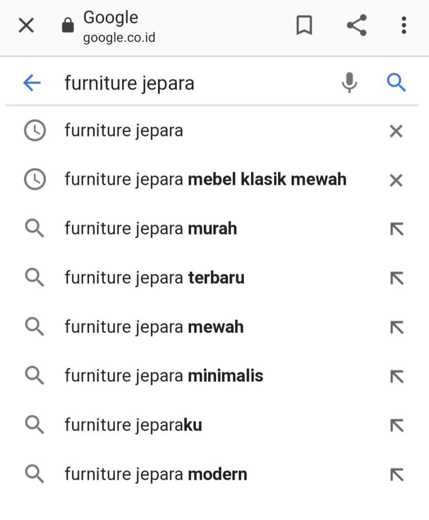 Kata Kunci Furniture Jepara